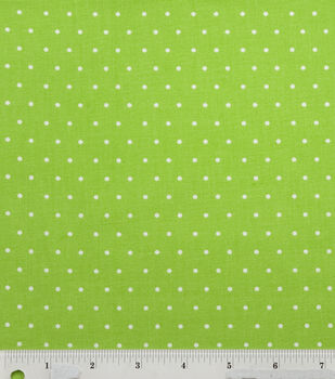 Noel Collection-Lime Dot Holiday Fabric Green