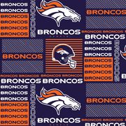 Denver Broncos NFL Cotton Fabric by Fabric Traditions, , hi-res