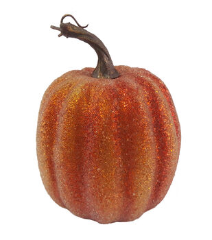 Blooming Autumn 7'' Sugar Coating Pumpkin-Orange