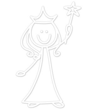 Plaid® Me&My Peeps Family Auto Decal-Princess Girl