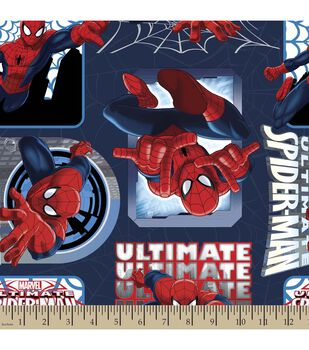 Marvel Ultimate Spiderman Badge Fleece Fabric
