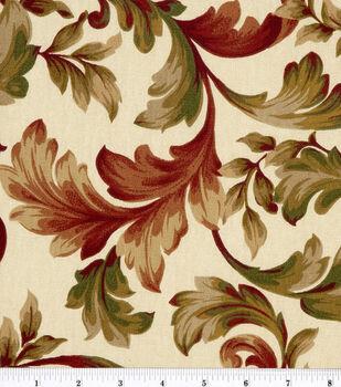 "45"" Home Essentials Print Fabric-Abigail Ruby"