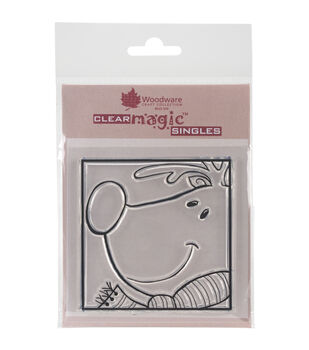 Woodware Craft Collection Clear Magic Stamp-Rudolf