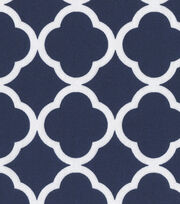 Keepsake Calico™ Cotton Fabric-Quatrefoil Navy&White, , hi-res