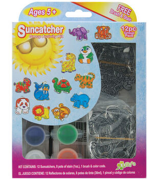 Suncatcher Group Activity Kit-12PK/Zoo