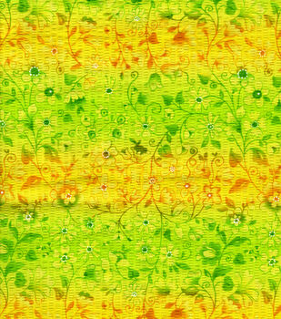 Tutti Fruitti Collection Paper Mache Floral Vines Yellow