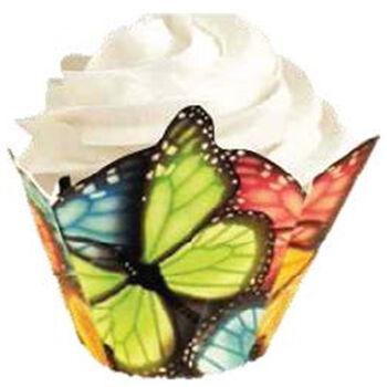 Wilton® Specialty Baking Cups-Multicolor Butterfly 15/Pkg
