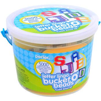 Perler Bucket O' Beads Fun Fusion Fuse Bead Kit-Letter Lingo