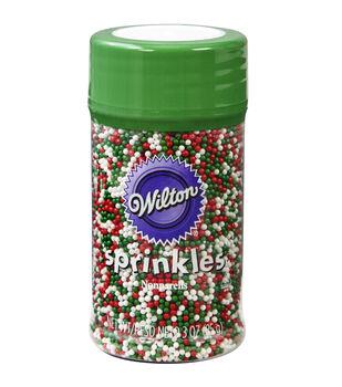 Wilton® Pearlized Nonpareils-Christmas