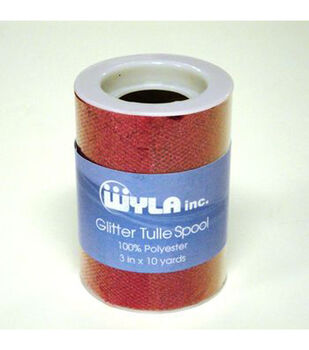 "3""x10yds Glitter Tulle Spools"