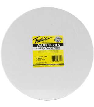 Fredrix Round Cut Edge Canvas Panel 12''