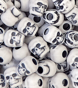 Skull Beads White Antique 250 Ct