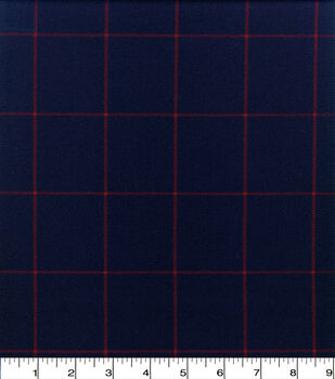 Perfectly Plaid Fabric-Suiting Navy Red