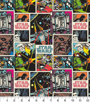 Character Cotton Star Wars Cotton Fabric -  Comic Strip