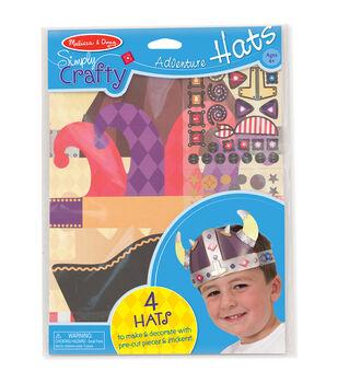 Melissa & Doug Simply Crafty Adventure Hats Kit-Makes 4