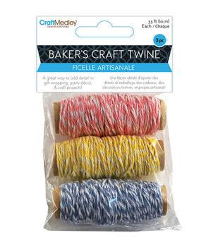 Baker's Twine 33ft 3 Spools/Pkg-Sweet