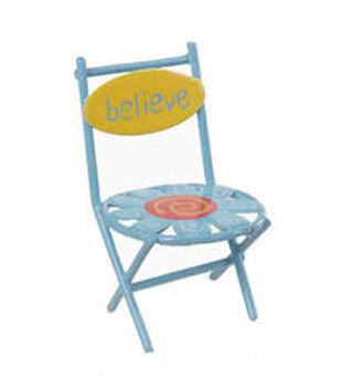 Fairy Garden Metal Flower Chair