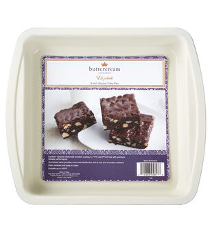 "Buttercream™ Elizabeth Collection Ceramic Metal 8"" Square Cake Pan"