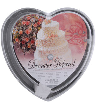 Wilton® Decorator Preferred Cake Pan Set-6'', 10'', 12'', 14''-Heart