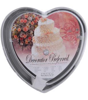 Wilton® Decorator Preferred Cake Pan Set-6'', 10'', 12'', 14''-Heart