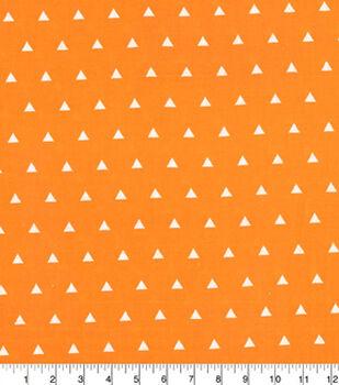 Quilters Showcase Cotton Fabric-Triangle Orange