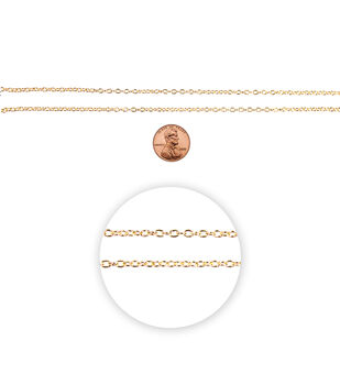 "Blue Moon Small Cable Chain-100"" Gold"