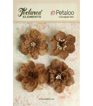 Textured Elements Burlap Blossoms