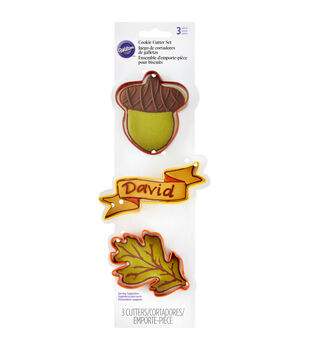 Wilton® Cookie Cutter Set 3pcs-Acorn