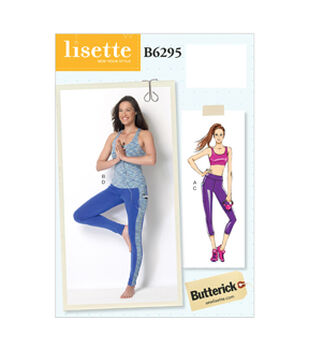 Butterick Pattern B6295-A50-Misses' Bra Top, Top And Leggings-6-8-10-12-14