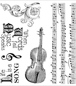 Darcie's Cling Mounted Rubber Stamps-Musically Inclined