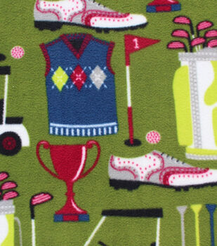 Anti-Pill Fleece Fabric-Golfin' Time