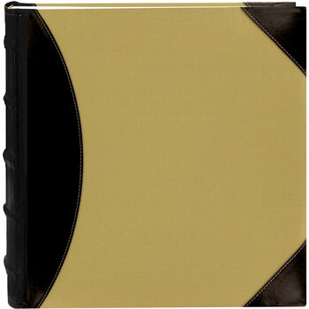 "5-Up High Capacity 12""X12"" Photo Album 500 Pocket-Black/Beige"