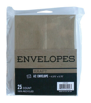 Leader Paper Products 25pcs A2 Envelopes-Kraft