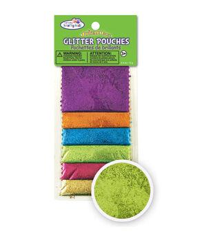 Krafty Kids: Twinkle-Town Glitter Pouches 12 Grams/Pkg-Mini Hexagon