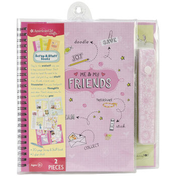 American Girl Travel Size Scrap & Stuff Book Friends