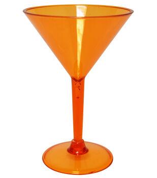 Martini Glass 10 oz Clear oz Orange