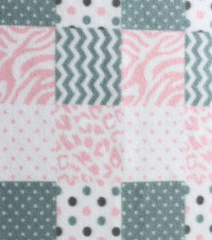 Blizzard Fleece Fabric - Baby Patchwork Girl