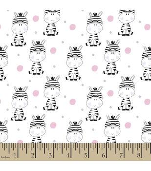 Snuggle Flannel Fabric-Polka Dot Zebra White