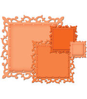 Spellbinders Decorative Elements Nestabilities Dies Fleur De Lis Squares, , hi-res