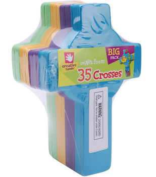 Fibre Craft Foam Shapes-35PK/Crosses