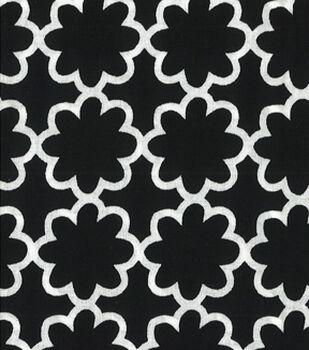Quilter's Showcase™ Cotton Fabric-Flower Black/White