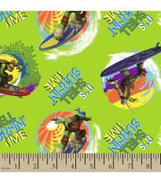 Nickelodeon Teenage Mutant Ninja Turtles Surfin Time Cotton Fabric, , hi-res