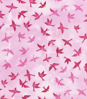 Keepsake Calico™ Cotton Fabric-Tonal Birds Pink, , hi-res