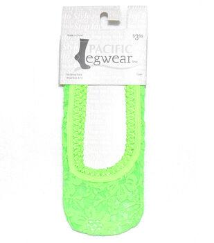 Lace No Show Socks-Neon Green