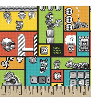 Nintendo® Super Mario Brothers™ Super Mario World Retro Flannel Fabric
