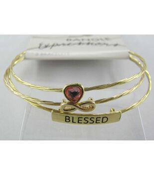 Bangle Expressions Gold Bracelet Assortment 083