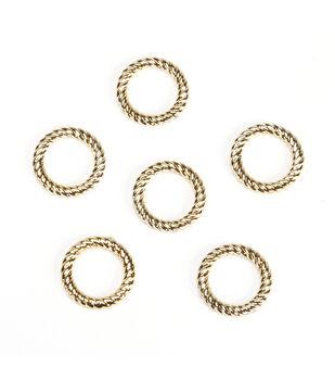 23mm Halo Ring, Gold Metallic, 6pc/pkg