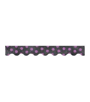 Dots on Chalkboard! Purple Border