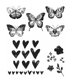 Stampers Anonymous Watercolor Cling Rubber Stamp Set