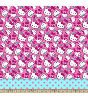 Sanrio Hello Kitty With Dots Mock Smock Fabric, , hi-res